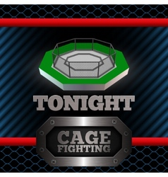 Cage fighting poster vector