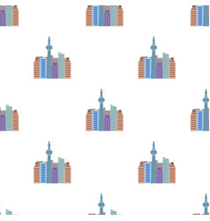 Canadian skyscraper canada single icon in cartoon vector