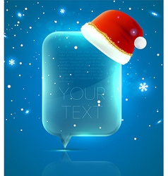 Christmas Background with Santa Hat vector image vector image