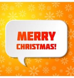 Christmas speech bubble vector image