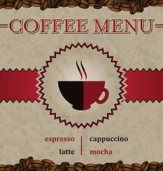 Coffee menu cover design vector