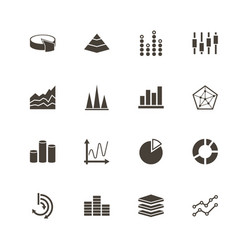 diagram graphs - flat icons vector image