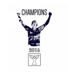 Digital abstract winner sportman champion vector image