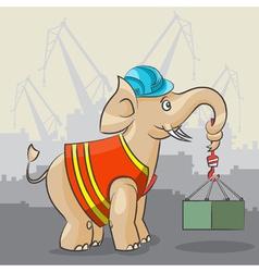 Elephant is a crane vector image