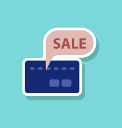 Fashion patch sale sticker bank card sale vector