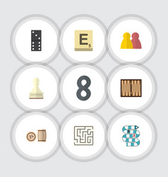 Flat icon play set of people dice labyrinth and vector