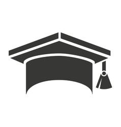 hat graduation uniform icon vector image