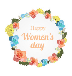 international women s day banner with banner vector image vector image