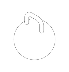 Kettlebell icon isometric 3d style vector
