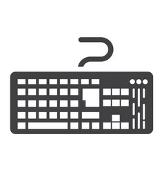 keyboard solid icon button and device vector image vector image