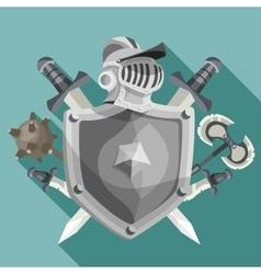 Knight emblem vector