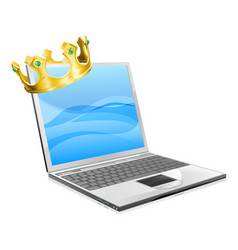 laptop king vector image