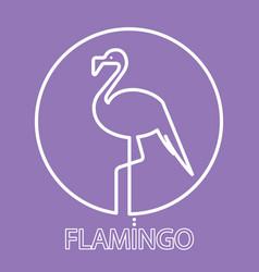logo flamingo line icon vector image vector image