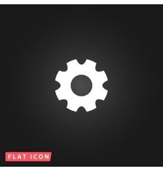Machine gear icon vector
