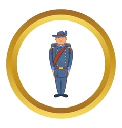 Man in army uniform 19th century icon vector