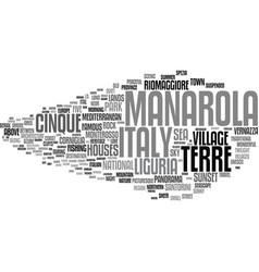 Manarola word cloud concept vector