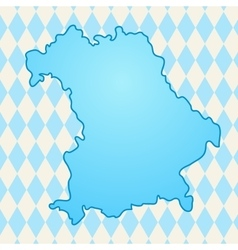 Map of Bavaria vector image
