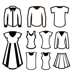 men and women clothes vector image vector image