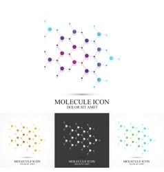 Modern set logotype icon dna and molecule vector image vector image