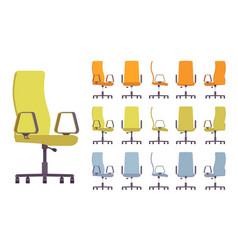 Office chair interior set vector