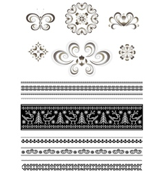 Ornaments and borders for page design vector image