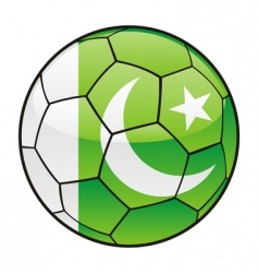 pakistan flag on soccer ball vector image vector image