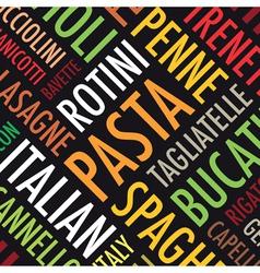 Pasta background vector