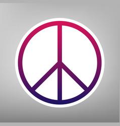 peace sign purple gradient vector image