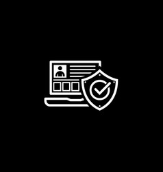 Personal security icon flat design vector