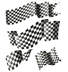 Racing flags in different styles vector image