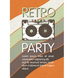 Retro music party poster design Disco music vector image