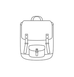 school bag line drawing vector image