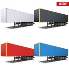 Set of parked semi trailers vector