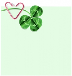 St Patrick's day letter vector image vector image