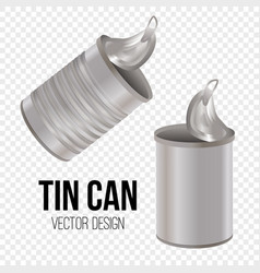 tin can canned food realistic package vector image