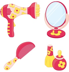 Toys set hairdresser vector