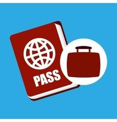 Travel concept passport document vector