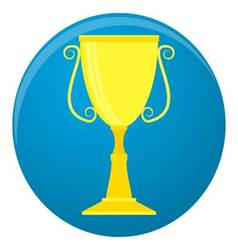 Winner cup icon vector