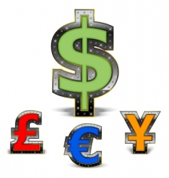 world currency vector image vector image