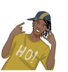 Young african american man dj hip-hop eps10 vector image vector image