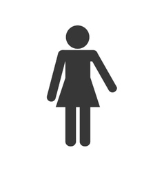 Woman female pictogram silhouette icon vector