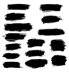 Paint brush marker highlighter strokes vector
