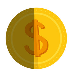 Coin money isolated icon vector
