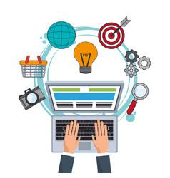 digital marketing corporate website image vector image
