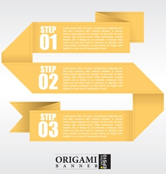 Abstract yellow origami banners EPS10 vector image