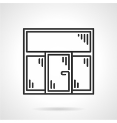 Plastic window black line icon vector