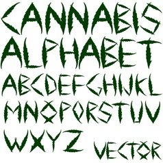 Cannabis alphabet vector