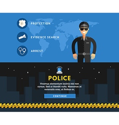 Profession concept policeman flat design concepts vector