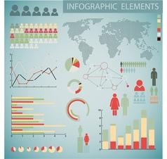 infographics color inv retro col vector image