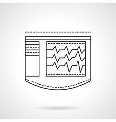 Life monitoring screen flat line icon vector image
